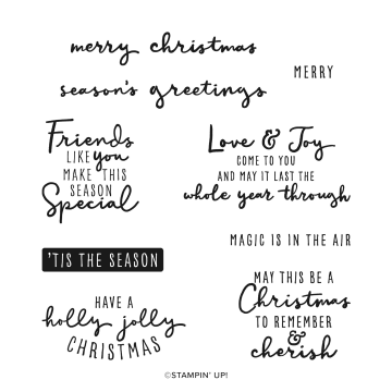 Christmas To Remember Cling Stamp Set (english)