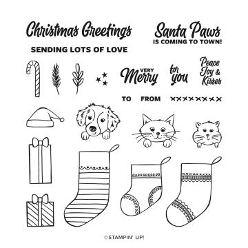 Sweet Little Stockings Photopolymer Stamp Set (english)