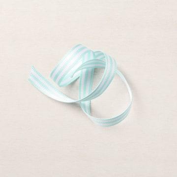 Pool Party 3/8 INCH (1 Cm) Striped Grosgrain Ribbon