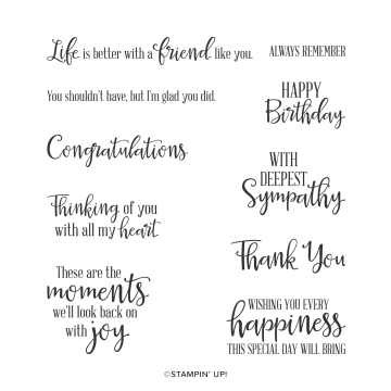 Peaceful Moments Cling Stamp Set By Stampin' Up!