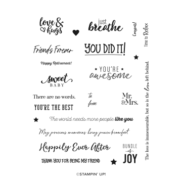 Many Happenings Cling Stamp Set By Stampin' Up!