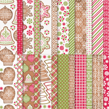 Gingerbread & Peppermint Designer Series Paper By Stampin' Up!