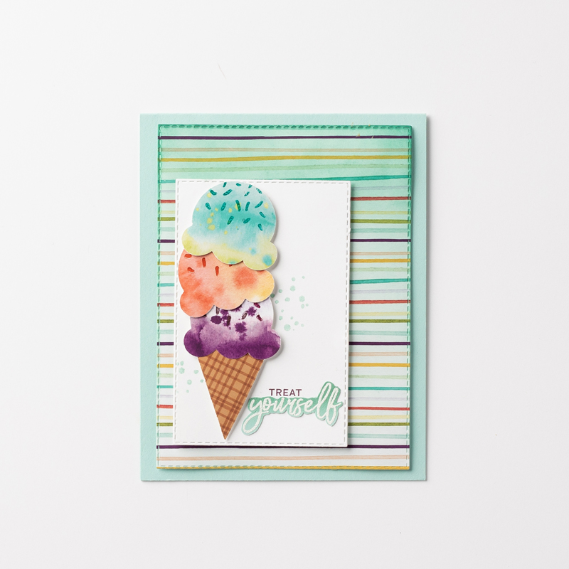 Ice Cream Corner Ombre Card